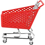 Cabilock Mini Shopping Cart Toy Supermarket Handcart Shopping Utility Cart Mode Storage Toy Random Color
