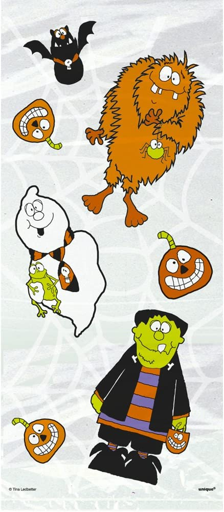 Cellophane Spooky Smiles Halloween Party Bags Pack of 20