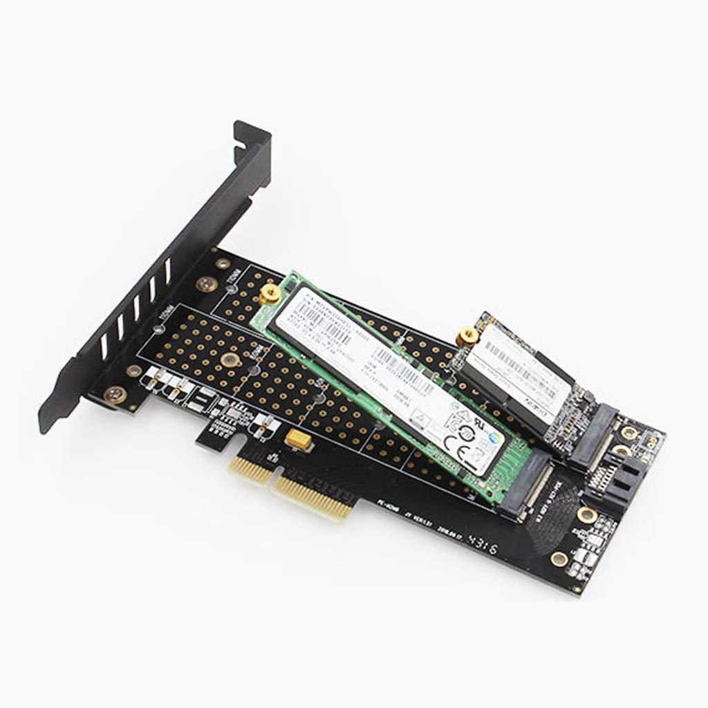 perfk M.2 NVMe SSD NGFF TO PCIE 3.0 X4 Adapter 2 Interface Card Support 2230-22110
