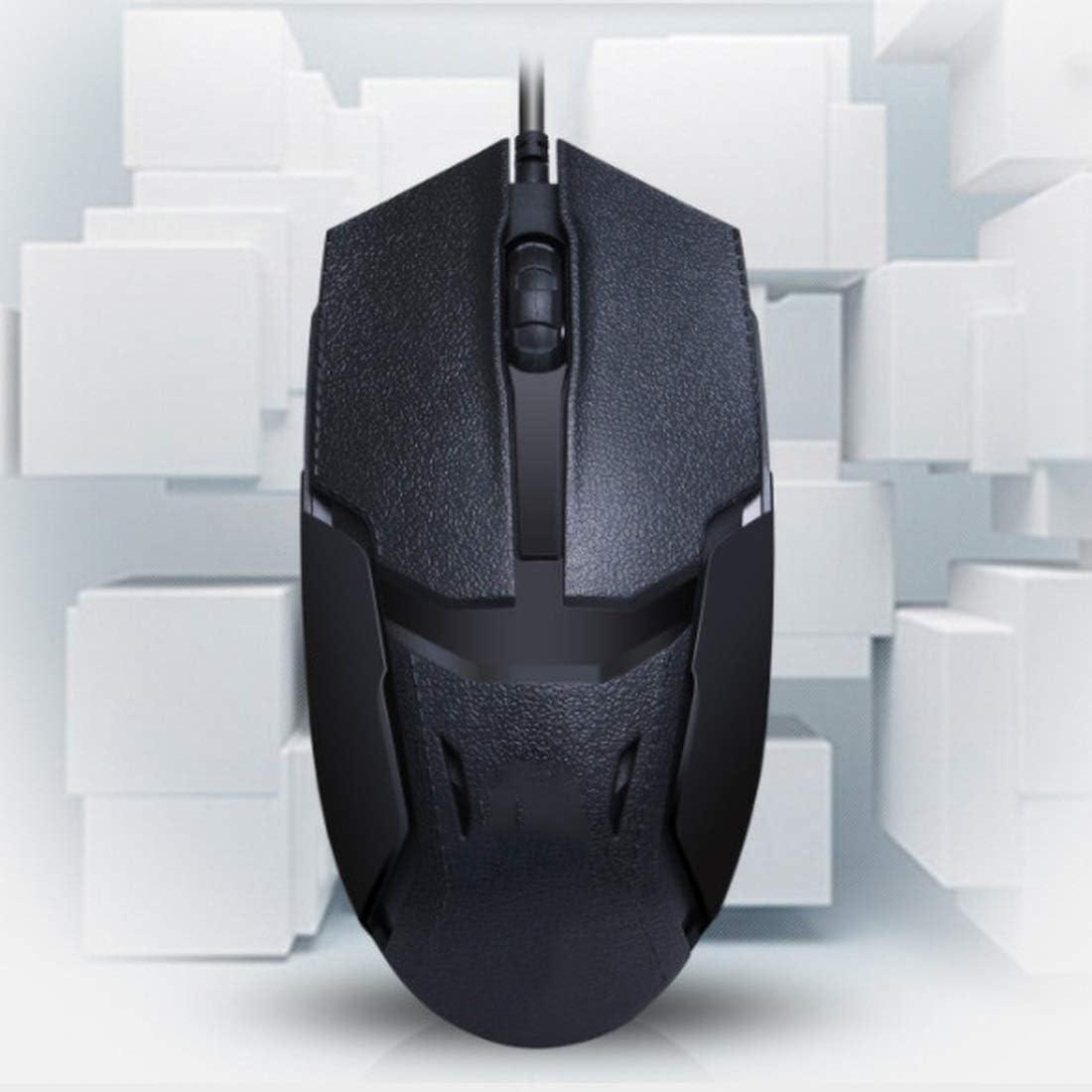 Computer Mouse Optical Mouse for PC Laptop Desktop Color : Black XIAMEND Gaming Mouse 1600 DPI Mac