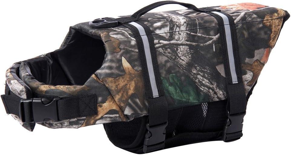 Woo Woo Pets Dog Life Jacket Adjustable Dog Life Preserver Yellow L