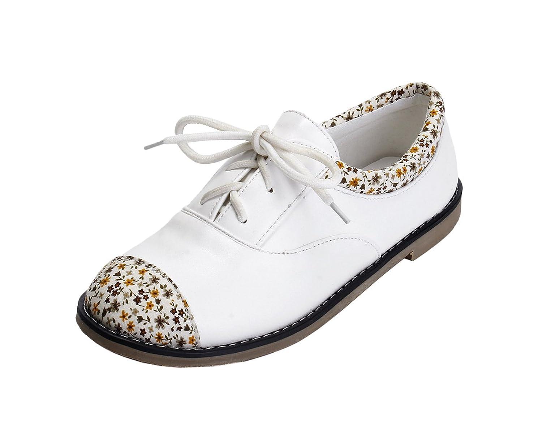 Tidecloth Women's Lace up Pu Simple Flats Shoes hot sale 2017
