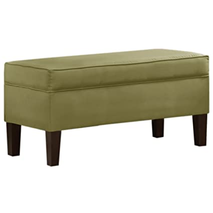 Amazoncom Orchard Street Upholstered Storage Bench By Skyline