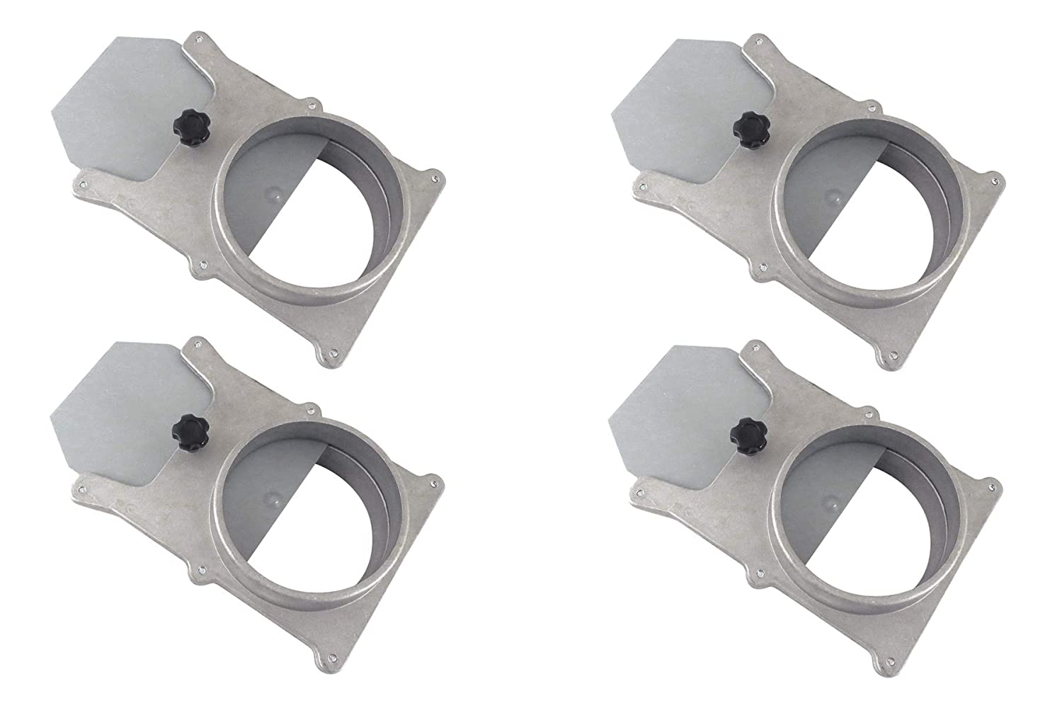 Taytools 278567 Set of 4 each 6 OD Blast Gates Self Cleaning No Clog Aluminum for Dust Collection System
