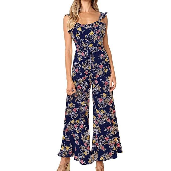 Amazon.com: Colifas - Mono para mujer, diseño de flores, sin ...