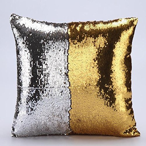 Diy Glitter Book Cover : Winhurn diy double colors glitter sequins throw cushion