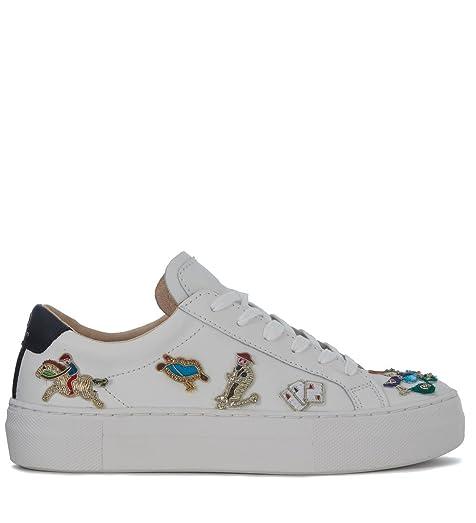 Sneaker Pelle Glitter Bianca - 36 Kqo4zoOTfJ