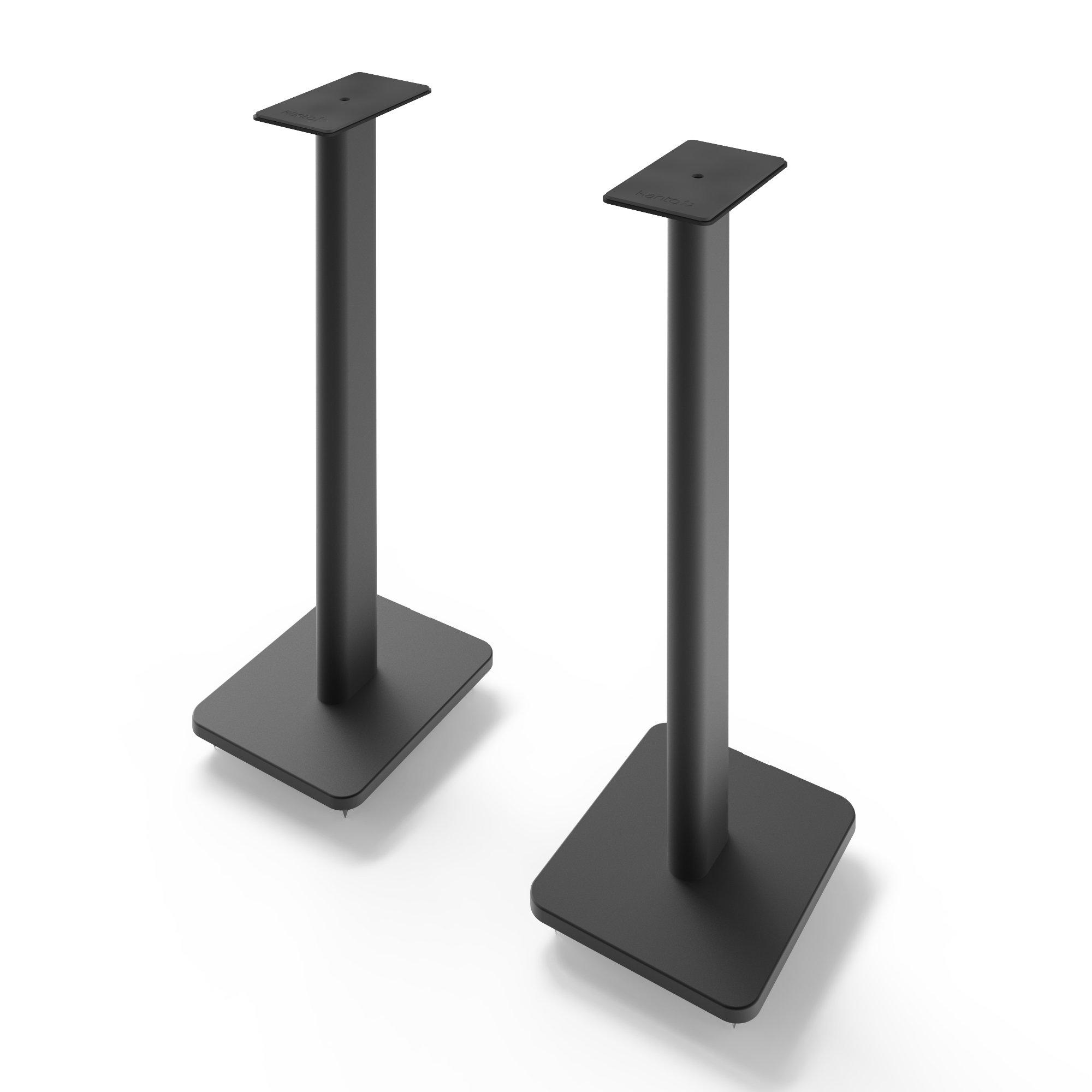 Kanto SP26PL 26'' Bookshelf Speaker Stands, Black by Kanto