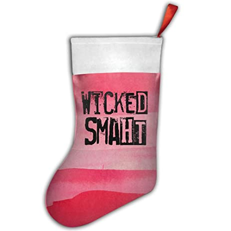 wicked smaht stocking gifts funny christmas socks childrens christmas stockings christmas decoration - Funny Christmas Stockings