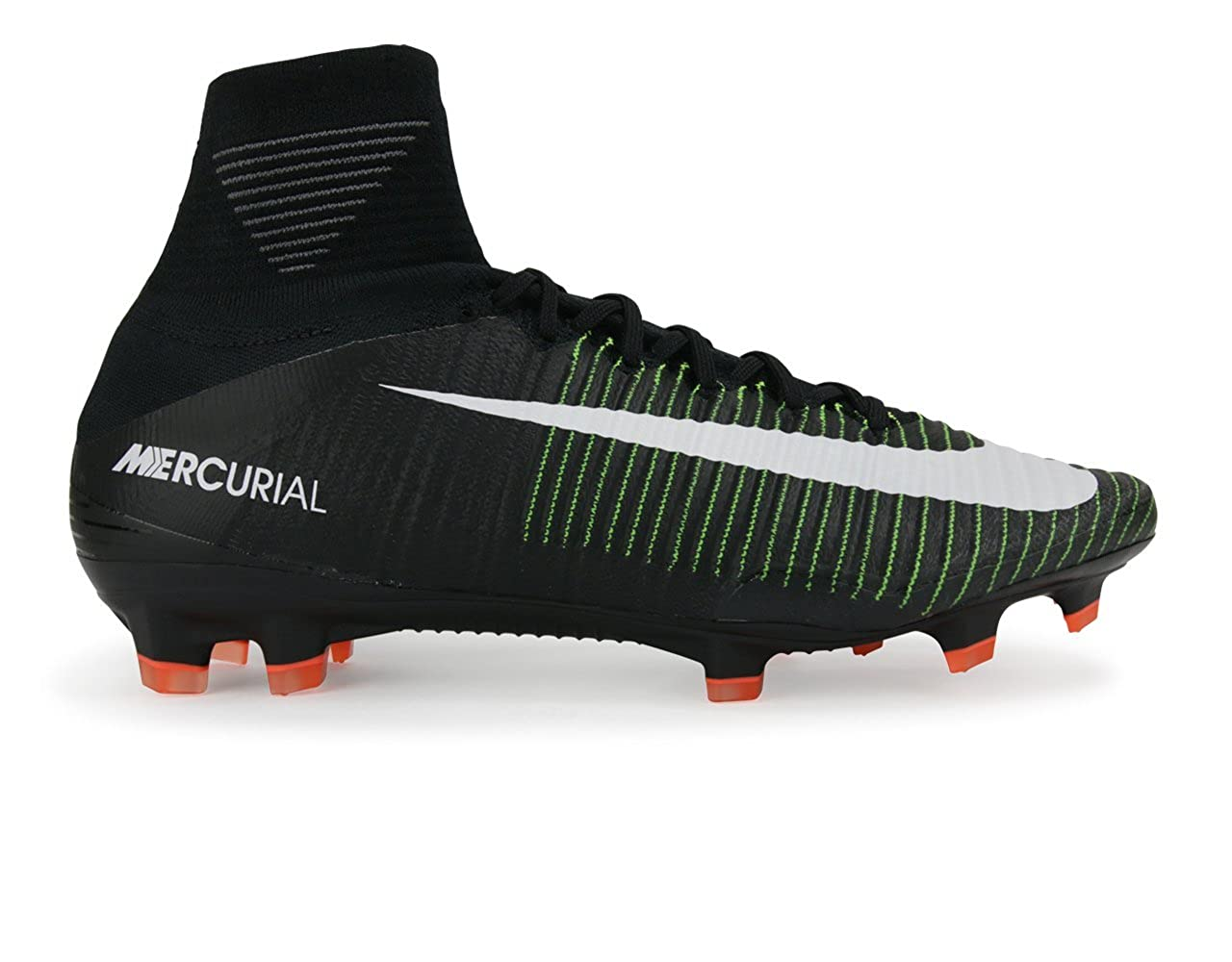 newest 8b6c8 92271 Amazon.com   Nike Men s Mercurial Superfly V FG Black White Electric Green  Soccer Shoes - 6.5A   Soccer