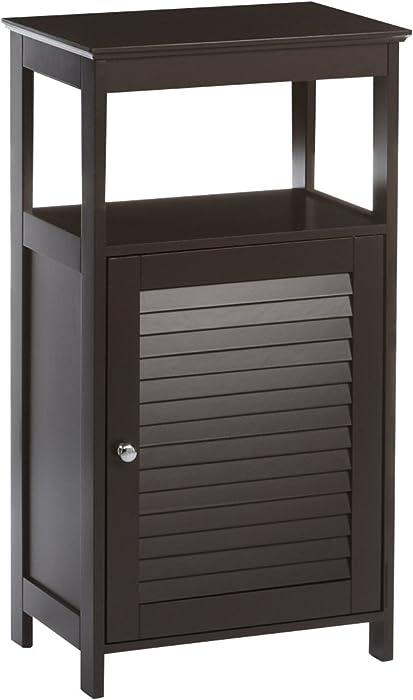 RiverRidge Ellsworth Collection Single Door Floor Cabinet, Espresso