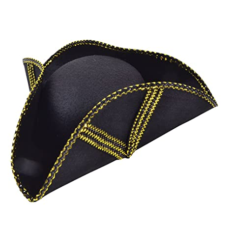 vende prezzo limitato presentando Bristol Novelty BH443 - Cappello Tricorno, taglia unica, con finiture e  motivo in color oro