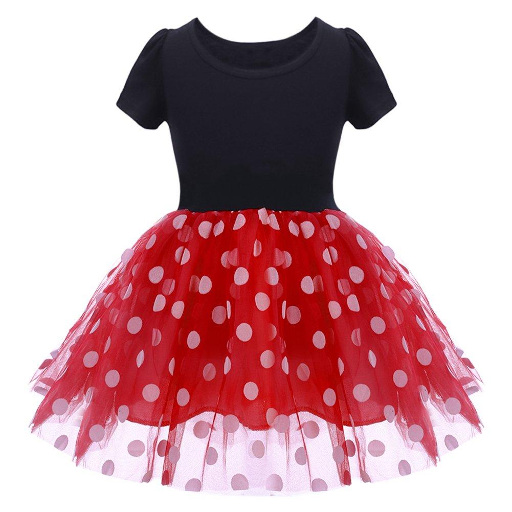 48434bafc IWEMEK Infant Baby Toddlers Girls Christmas Polka Dots Birthday ...