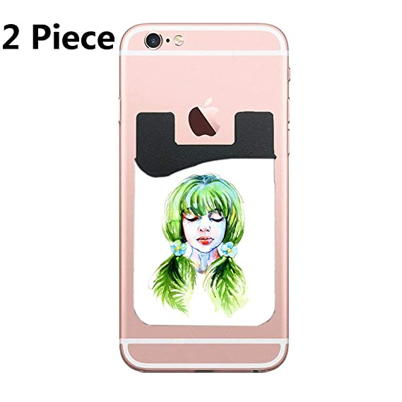 Amazon Forest Nymph Cell Phone Stick On Wallet Card Holder
