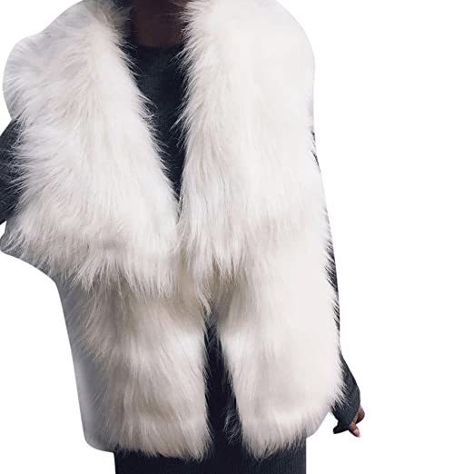 4c950d08b61 Image Unavailable. Image not available for. Color  Inverlee Women Faux Fur  Ladies Sleeveless Vest Waistcoat Jacket ...