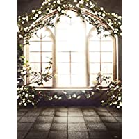 L2G 5x6.5FT French Window Indoor Flowers Background Children Baby Photo Studio Decor Backgrounds Photography Wedding Backdrop