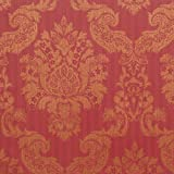 Romosa Wallcoverings 1245317 Louis Damask Wallpaper, Red/Gold