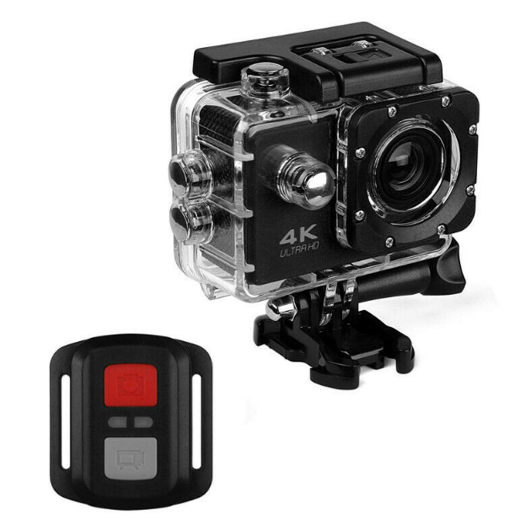 WiFi HD Action Camera, 30M Waterproof Sports Camera, Action Camcorder with 2.0 Inch LCD Display Screen, Mounting Accessories Kit and WiFi Remote Controller - Black by Interesting