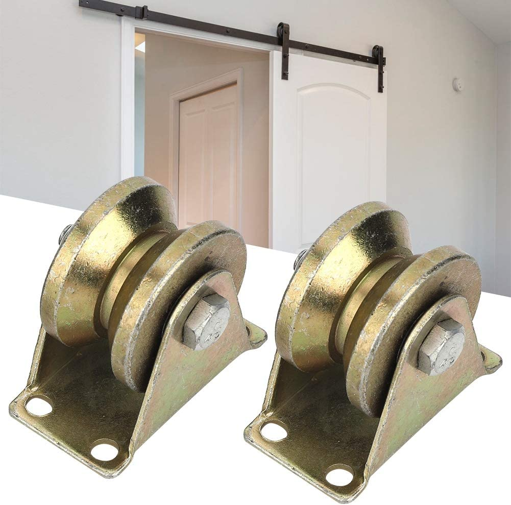 V Groove Pulley 2.7x2.3x1.5in Easy Installation Sliding Gate Wheel for Sliding Door Industrial Machine