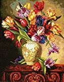 Dimensions Crafts The Gold Collection Counted Cross Stitch Kit, Parrot Tulips