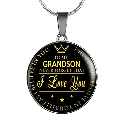 Amazoncom To My Grandson Necklace Chain Inspirational Quote