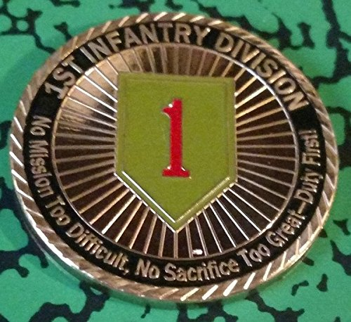 (US Army 1st Infantry Division - Duty First Colorized Challenge Art Coin )