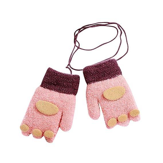 794ea25ff7 URSING Kleinkind Fingerhandschuh Baby Schreiben Handschuhe Niedlich  Verdicken Winterthermal Fingerlose Handschuhe Unisex Mädchen Jungen Winter  Warme