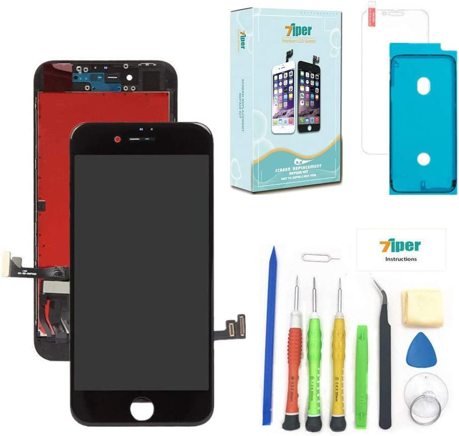 BeeFix Screen Replacement for iPhone 8 Plus Black(5.5 Inch) 3D Touch LCD Screen Digitizer Replacement Frame Display Assembly Set with Repair Tool Kit