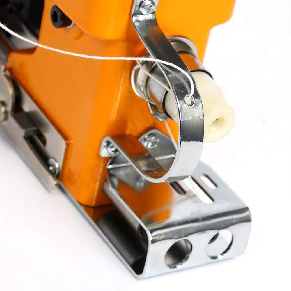 HUKOER Máquina de coser portátil Máquina de coser más cercana Bolsa de embalaje eléctrico Sellado de costura para bolsa de plástico de papel de arroz ...