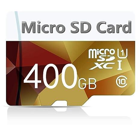 genericc - Tarjeta de Memoria Micro SDXC (400 GB, Clase 10, para Smartphones y Tablets, con Adaptador SD)