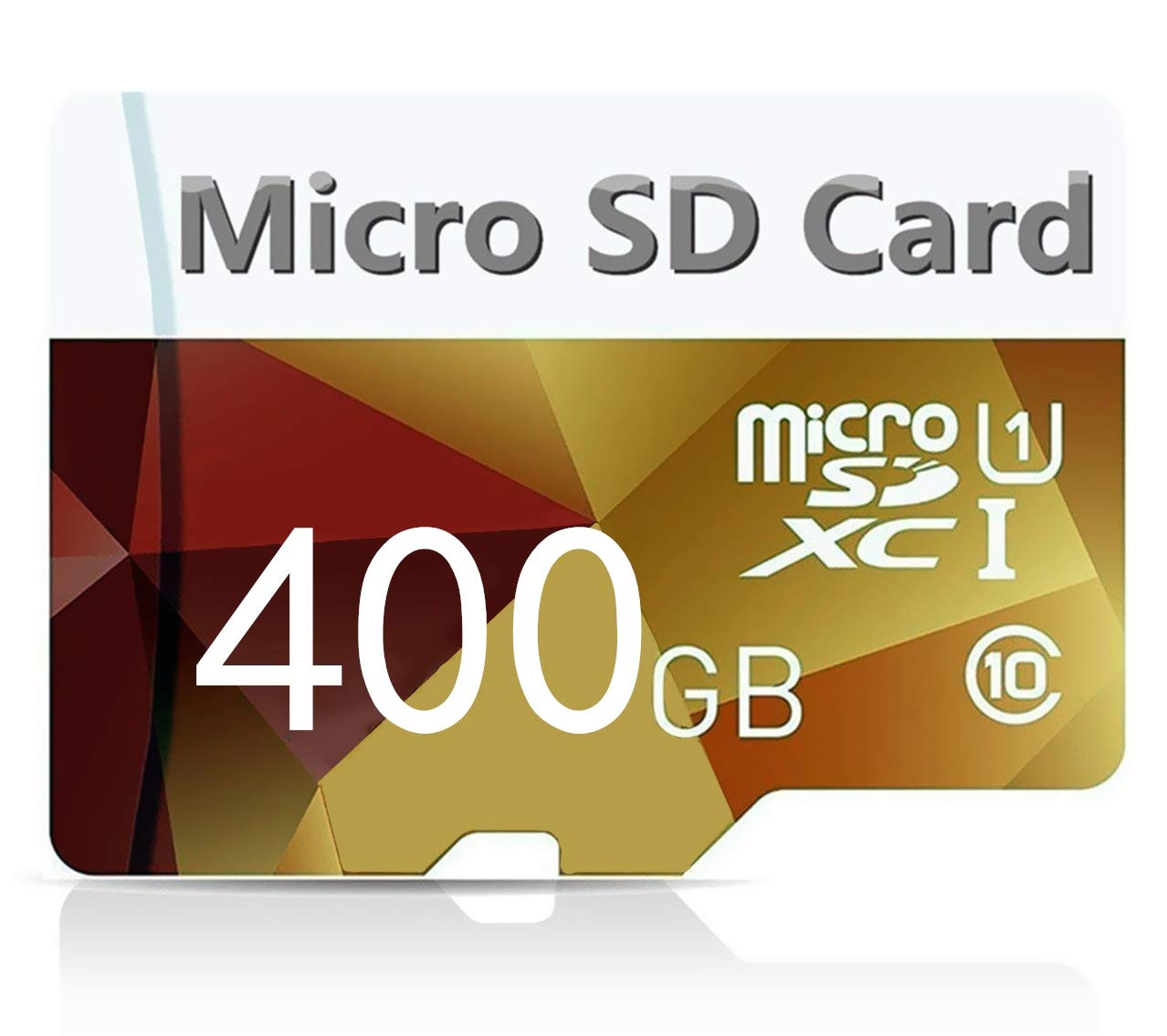 Gerenicca 400GB Micro SD SDXC Card High Speed Class 10 Memory SD Card with SD Adapter