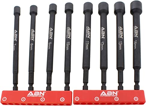"8PC 1//4/"" Hex Drive Shank Drill Screwdriver Nut Impact Drivers Set 5-11mm New"