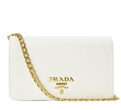 79274fc103ea Wiberlux Prada Women's Gold Chain Strap Real Leather Mini Bag One ...
