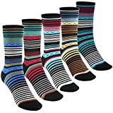 Tselected Women's Classic Dress Socks Colorful Warm Funny Casual Crew Vintage Style US Size 6-11 5 Pack