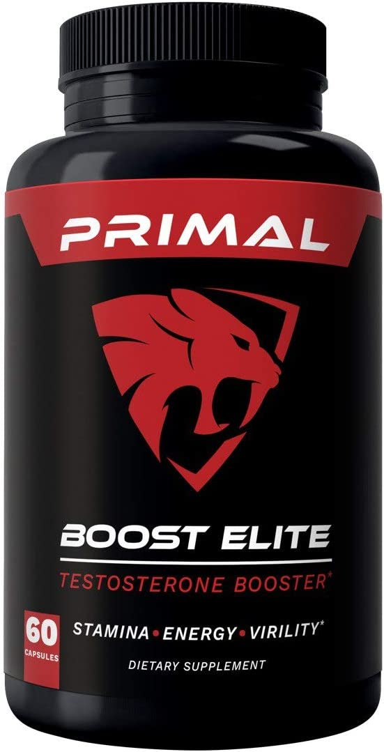 Primal Boost Elite – Male Enhancement – Extra Strength Testosterone Booster – Naturally Boost Your Libido, Stamina, Endurance, Strength Energy for Men Women – Burn Fat Build Lean Muscle Mass