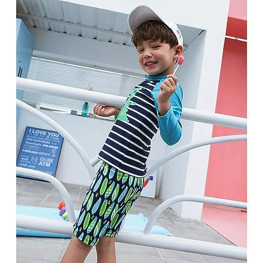 Kleinkinder Badebekleidung mit UV-Schutz 50 lang/ärmliges Badeanz/üge LIUONEXI 2-teiliges Baby