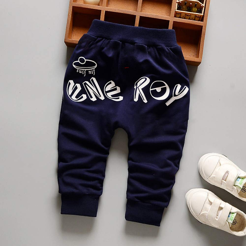 Boys Sweat Pants,Zerototens Children Baby Boys Girls Cartoon Eye Letter Printed Leggings Trousers Boys Athletic Pants Autumn Winter Cotton Pants Kid Pants 0-3 Years Old