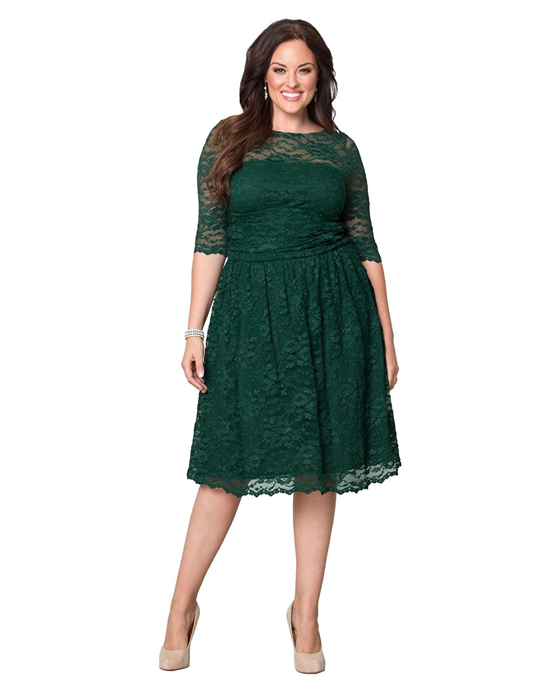 Kiyonna Women's Plus Size Luna Lace Cocktail Dress