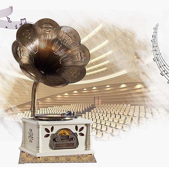 HYH Brown Tocadiscos Tocadiscos De Vinilo Retro Gramófono De Tres ...