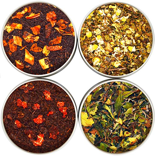 NassimTea Leaves Natural Tea Sampler 4 Tea Gift Set - Bestsellers