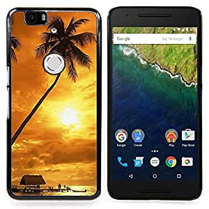- Sunset coconut Beautiful Nature 122/ Hard Snap On Cell Phone Case Cover - Cao - For Huawei Nexus 6P