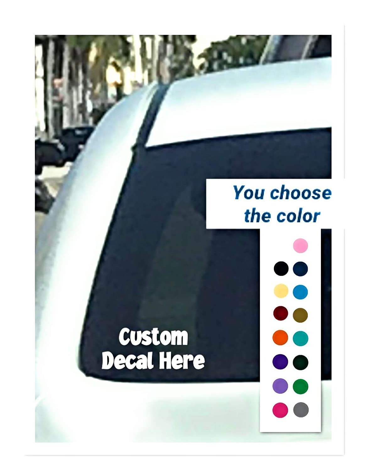 Amazon com personalized window decal sticker vinyl window decal perfect for car window many sizes and colors available quick shipping handmade