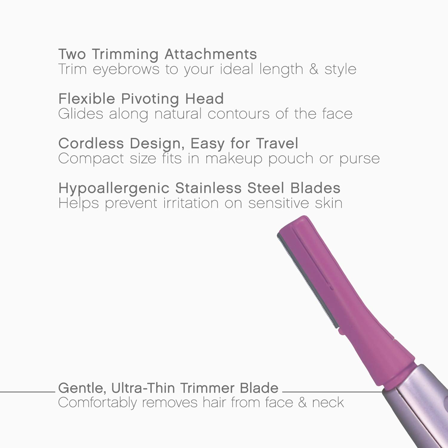 Amazoncom Panasonic Facial Hair Trimmer For Women Es2113pc With