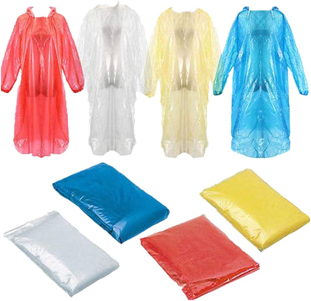 Protective Suit For Adults,Emergency 1//4////5//10//20//40pcs Disposable Rain Poncho,Waterproof Long Raincoat,Protective Raincaper