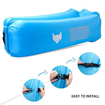 Sofá hinchable tipo tumbona de IceFox, impermeable, con bolsa de transporte, para dormir. Pasa ...