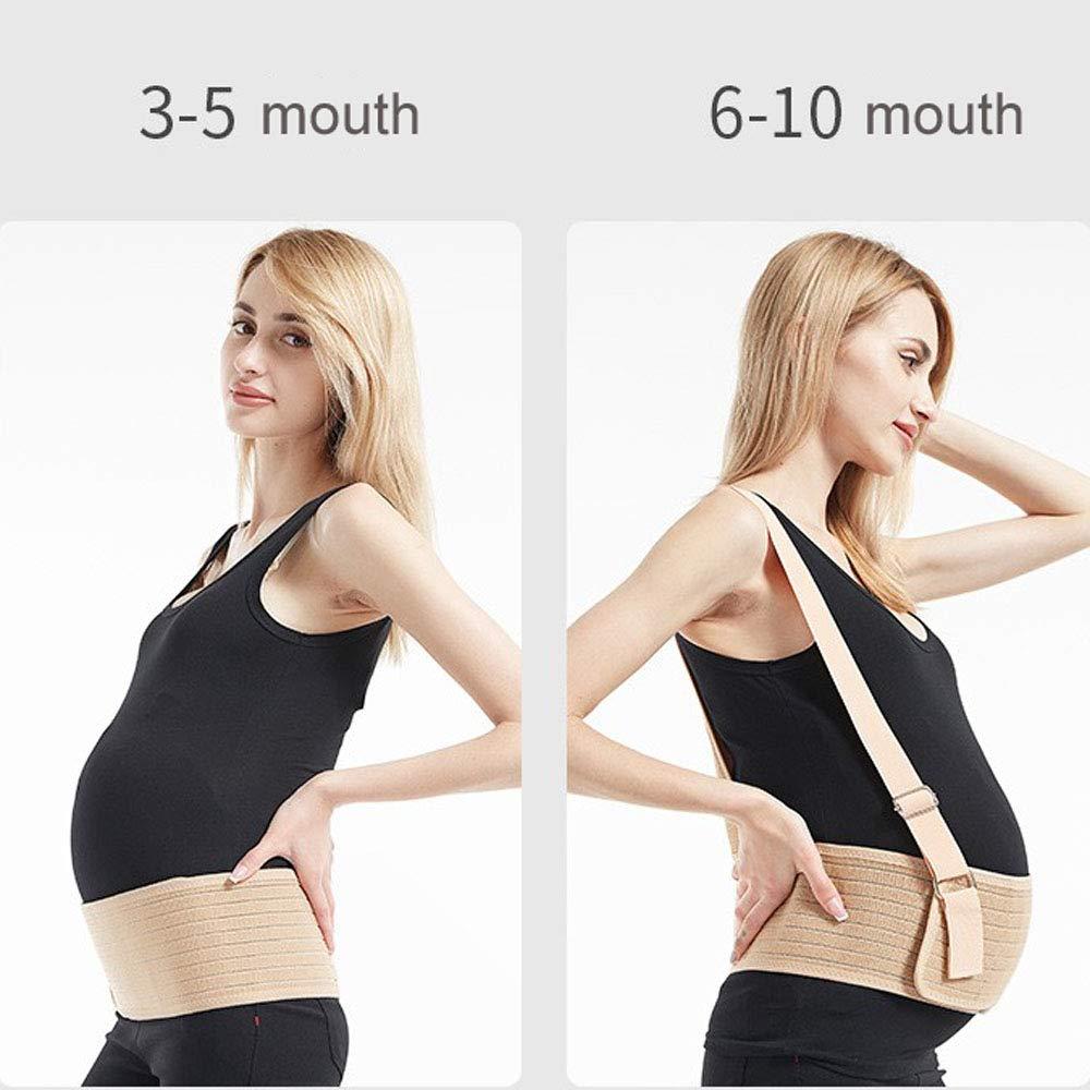 Faja Embarazada,Faja de Embarazo//Premam/á,Transpirable y C/ómodo Cintur/ón de Maternidad,Cintur/ón de Soporte del Embarazo con hombro desmontable para evitar dolor de Abdomen//Cintura//Espalda//P/élvico