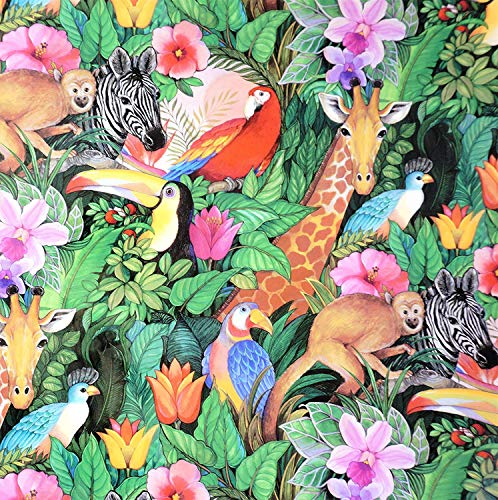 Jungle Paradise Gift Wrapping Paper Roll - 24