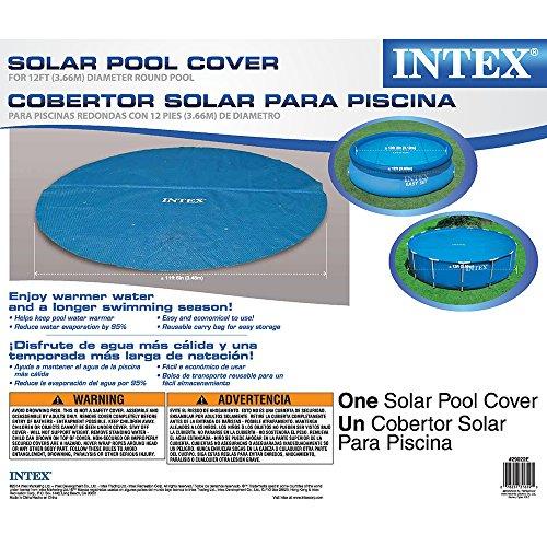 Intex Solar Cover For 12ft Diameter Easy Set And Frame