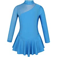 IEFIEL Vestido Manga Larga de Patinaje Artistico Para Niña Vestido Lentejuela de Gimnasia Ritmica Vestido Princesa de…