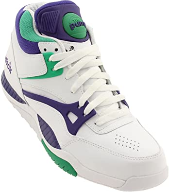 Reebok Pump Hacha (Blanco/Verde/Lila), Color Blanco, Talla 44,5: Amazon.es: Zapatos y complementos